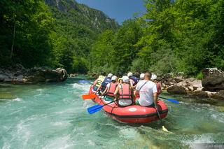 Tara River, Tara Bridge, Montenegro, rafting