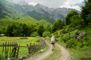 Walking out of Valbona