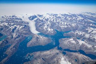 Greenland, aerial, glacier