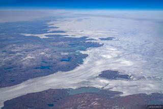 Greenland, aerial, glacier, Jakraviyk, Sermiligarssuk