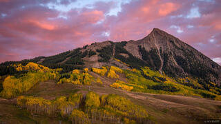 Colorado, Crested Butte, sunset, September