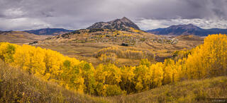 Colorado,Crested Butte,aspens, autumn, September, panorama