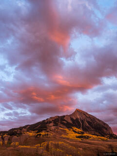 Colorado,Crested Butte, sunset