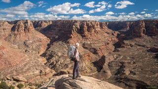 Dark Canyon, Utah, hiker, hiking, Bears Ears National Monument, Dark Canyon Wilderness