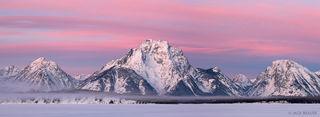 Jackson Lake,Tetons,Wyoming,panorama, Mt. Moran