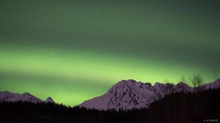 Alaska, Haines, aurora, Takhinsha Mountains