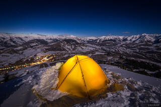 Colorado, Crested Butte, tent, moonlight, Ruby Range, Elk Mountains