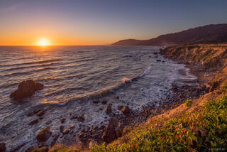 California, Westport-Union Landing State Beach, sunset, June