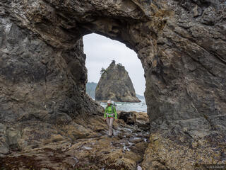 Olympic Peninsula, Washington, Olympic National Park, Hole in the Wall, Rialto Beach, hiking