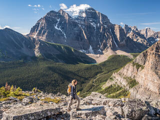 Alberta, Banff National Park, Canada, Canadian Rockies, Mount Temple, Saddle Mountain, hiking