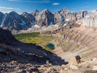 Alberta, Banff National Park, Canada, Canadian Rockies, Larch Valley, Mount Temple, Wenkchemna Peaks, hiking