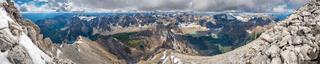 Mount Temple Summit Panorama
