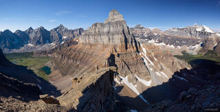 Alberta, Banff National Park, Canada, Canadian Rockies, Mount Temple, Pinnacle Mountain, hiking, panorama
