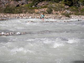 Fording Peyto Creek