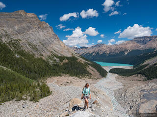 Alberta, Banff National Park, Canada, Canadian Rockies, Peyto Lake, hiking