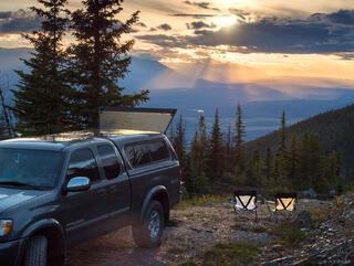 British Columbia, Canada, Mount McBride, truck
