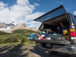 Alberta, Banff National Park, Canada, Mount Athabasca, Sunwapta Pass, truck