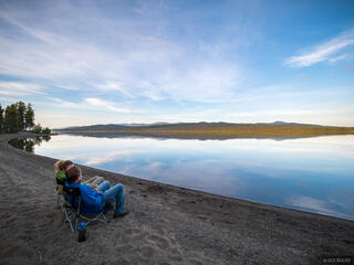Canada, Morley Lake, Yukon