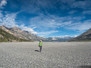 Canada, Kluane National Park, Slims River, Yukon, hiking