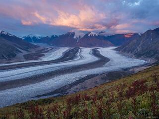 Canada, Kaskawulsh Glacier, Kluane National Park, Slims River, Yukon