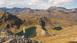 Canada, Tombstone Territorial Park, Yukon, Alpine Lakes, Fold Mountain