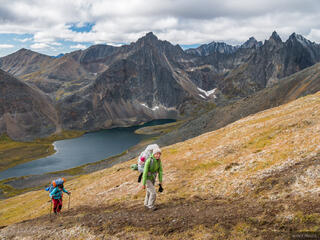 Canada, Glissade Pass, Tombstone Territorial Park, Yukon, hiking, Tombstone Range