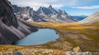 Canada, Talus Lake, Tombstone Mountain, Tombstone Territorial Park, Yukon, Tombstone Range
