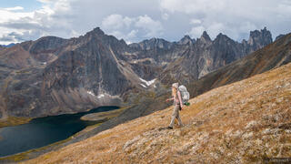 Canada, Glissade Pass, Grizzly Lake, Tombstone Territorial Park, Yukon, hiking, Tombstone Range