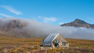 Canada, Talus Lake, Tombstone Territorial Park, Yukon, Tombstone Range