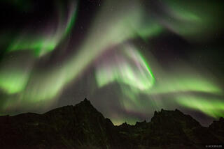 Canada, Grizzly Lake, Tombstone Territorial Park, Yukon, aurora