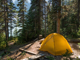 British Columbia, Canada, Mount Robson Provincial Park, tent