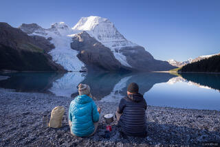 Berg Lake, British Columbia, Canada, Mount Robson Provincial Park, BC, coffee