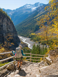 British Columbia, Canada, Mount Robson Provincial Park, Valley of a Thousand Falls, BC