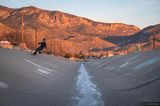 Albuquerque, Indian School Ditch, New Mexico, skateboarding