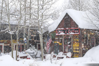 Colorado, Crested Butte, Camp 4 Coffee, snow, snowy, January