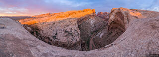 Black Dragon Canyon, San Rafael Swell, Utah, panorama, sunrise