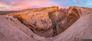 Black Dragon Wash, San Rafael Swell, Utah, panorama, sunrise