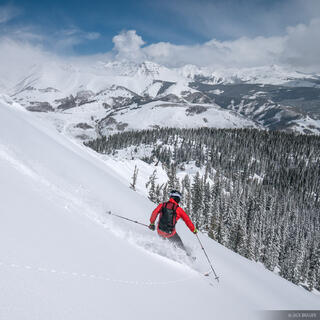 Teocalli Bowl, Crested Butte, Colorado, skiing, April