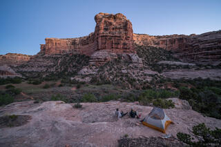 Bears Ears National Monument, Bullet Canyon, Cedar Mesa, Grand Gulch, tent