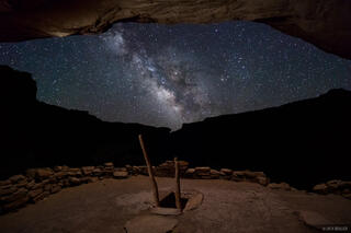 Bears Ears National Monument, Bullet Canyon, Cedar Mesa, Grand Gulch, kiva, ruin, stars, Milky Way, galaxy