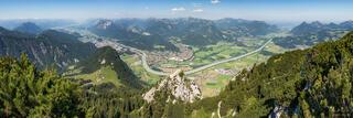 Austria, Kaisergebirge, Kufstein, Peterskopfl, panorama