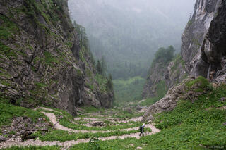 Berchtesgaden, Europe, Germany, Saugasse, switchbacks, trail