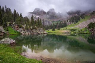 Colorado, Gore Range, Willow Lakes, Eagles Nest Wilderness, Zodiac Ridge, reflection