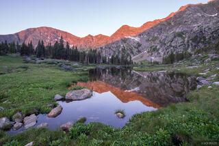 Colorado, Holy Cross Wilderness, Missouri Lakes, Sawatch Range, reflection