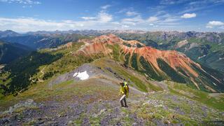 Brown Mountain, Colorado, Red Mountain, San Juan Mountains, hiking