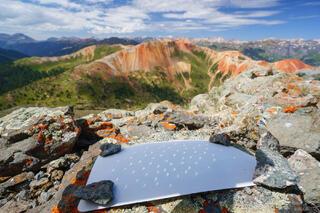Colorado, Red Mountain, San Juan Mountains, solar eclipse