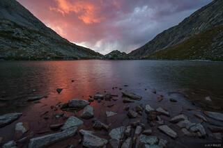 Colorado, Sangre de Cristos, South Zapata Lake, sunset, Sangre de Cristo Wilderness