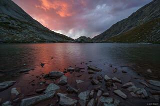 Colorado, Sangre de Cristos, South Zapata Lake, sunset, Sangre de Cristo Wilderness