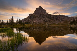Colorado, Indian Peaks, sunset, reflection