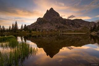 Colorado, Indian Peaks, sunset, reflection